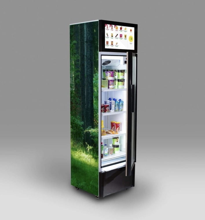 Smart Refrigerator Grab & Go - RFID AI Vending Machine